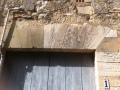 Porte avec linteau en plate-bande