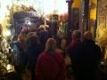 Le groupe des visiteurs dans la salle des santons napolitains