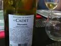Une bouteille de blanc Le Cadet