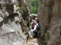 Escalier creusé dans le rocher