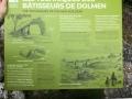 Panneau pédagogique sur les dolmens