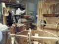 Machines en bois de châtaignier