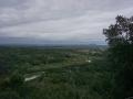Panorama sur le pont de Russan et le village