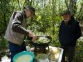 Cuisson de l'omelette pascale