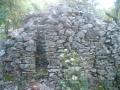 escalier sur mur viste
