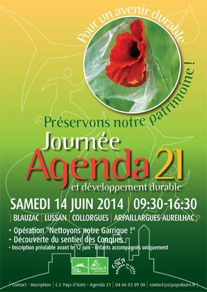 14 juin 2014 – Agenda 21 au sentier des Conques