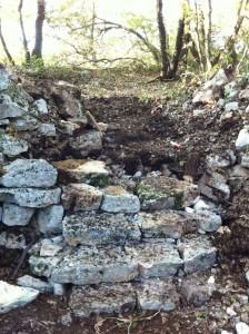 Escalier en pierre sèche