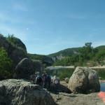 Des rochers tombés de la falaise