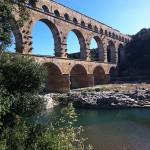 le Pont du Gard enjambant le Gardon