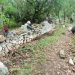 Le mur côté sentier