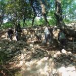 Le tas de pierres diminue