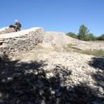 La première enceinte de l'oppidum