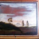 Panneau de la porte du cabinet des peintures