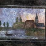 Panonceau peint du cabinet du château (détail)