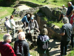 Le bassin de régulation de l'aqueduc romain