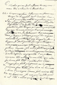 Manuscrit de Mathieu Surian
