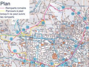 plan enceinte gallo-romaine Nîmes